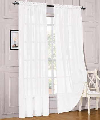 White Karrina Curtain Pane - Set of Two