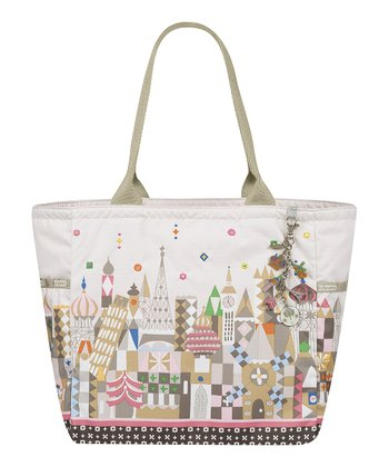 White See the World Tote & Charm