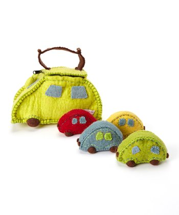 Felted Car House Bag Set