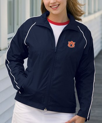 Navy Auburn Vansport Track Jacket