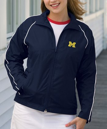 Navy Michigan Vansport Track Jacket