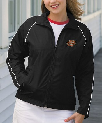 Black Oklahoma State Vansport Track Jacket