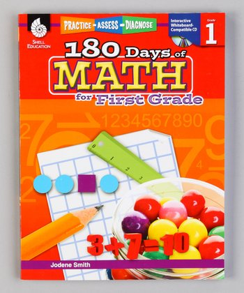 180 Days of Math: First Grade Workbook & CD
