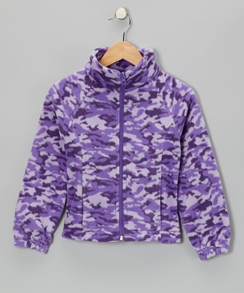 Purple Camo Jacket - Girls