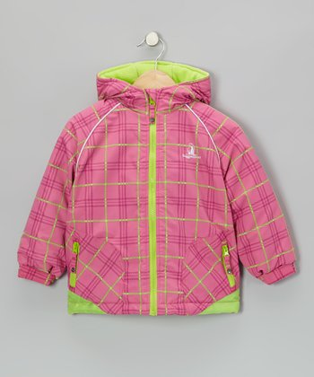 Fuchsia & Lime Jacket - Girls