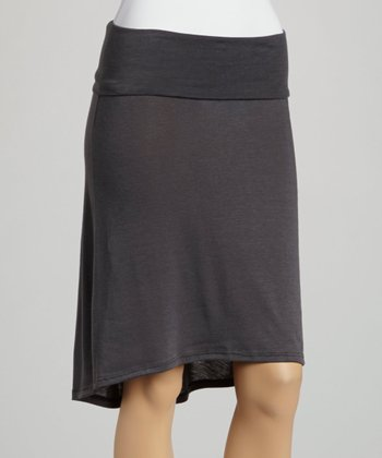 Gray Hi-Low Skirt
