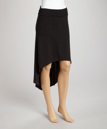 Black Ruffle Hi-Low Skirt
