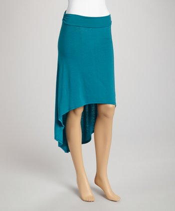 Jade Ruffle Hi-Low Skirt