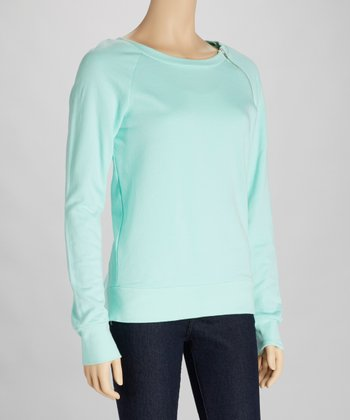 Aquamarine Zipper Top