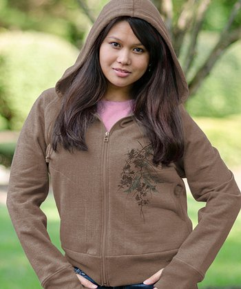 Camel Nature Zip-Up Hoodie