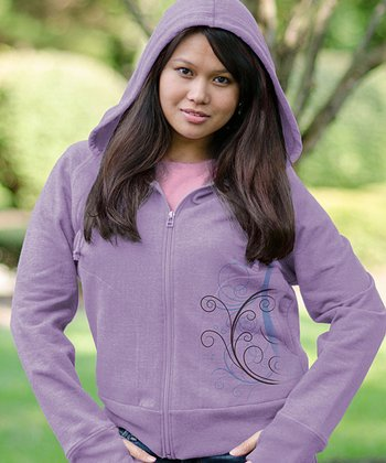 Lilac Abound Zip-Up Hoodie