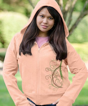 Cantaloupe Abound Zip-Up Hoodie