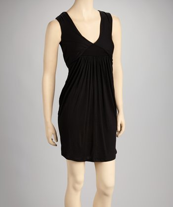 Black Grecian Sleeveless Dress