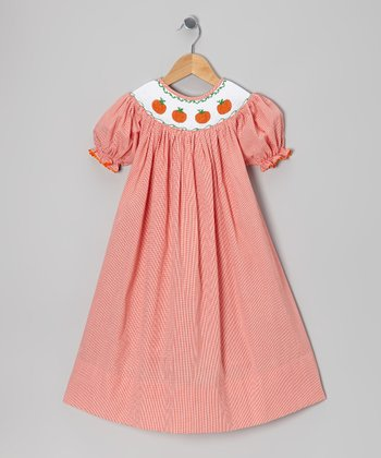 Orange Smocked Pumpkin Bishop Dress - Infant, Toddler & Girls