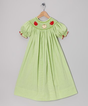 Green Smocked Apple Bishop Dress - Infant, Toddler & Girls