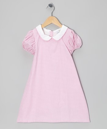 Pink Gingham Puff-Sleeve Dress - Infant, Toddler & Girls