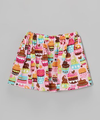 Pink Cupcake Circle Skirt - Toddler & Girls