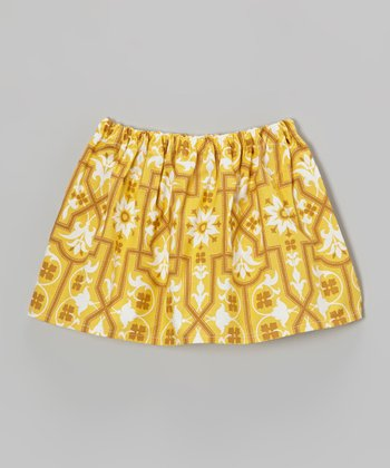 Mustard Deer Valley Circle Skirt - Toddler & Girls