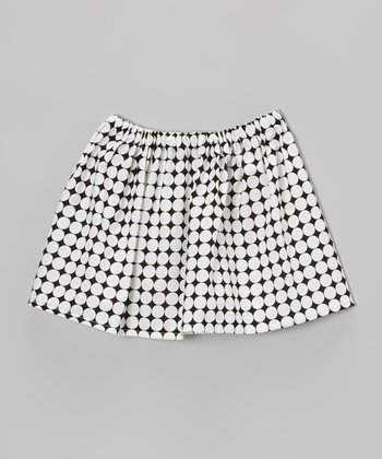 Black & White Mod Dot Circle Skirt - Toddler & Girls