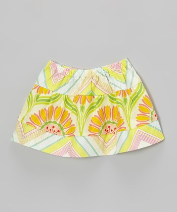 Ivory Pop Garden Circle Skirt - Toddler & Girls