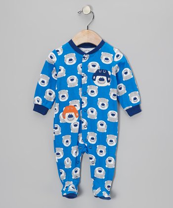 Blue Polar Bear Footie