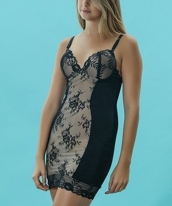 Black Firm Control Lace Shaper Slip - Women & Plus