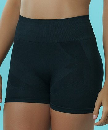 Black Seamless Shaper Boyshorts - Plus