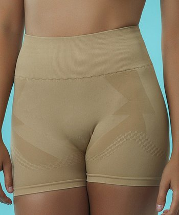 Nude Seamless Shaper Boyshorts - Plus