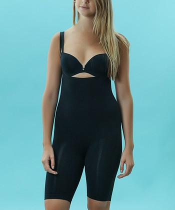 Black Seamless Long Bodysuit - Women & Plus