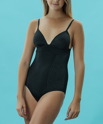 Black Animal Molded Cup Bodysuit - Women & Plus