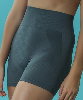Gray Seamless Control Shorts - Women & Plus