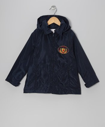 Navy Blue Royal Club Raincoat - Toddler & Boys