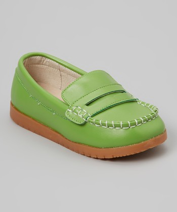 Pistachio Green Loafer - Girls
