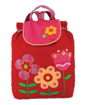 Red Flower Signature Quilted Backpack