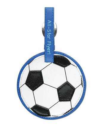 Black & White Soccer Ball Luggage Tag
