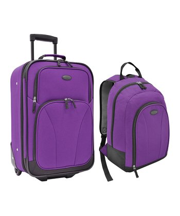 Purple Salerno Luggage Set