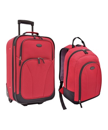 Red Salerno Luggage Set
