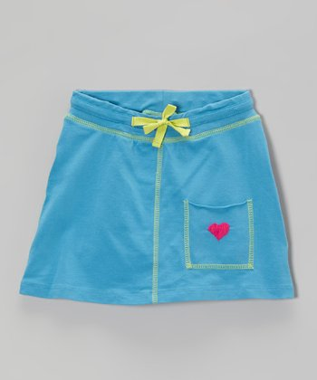 Blue Stitch Pocket Skirt - Toddler & Girls