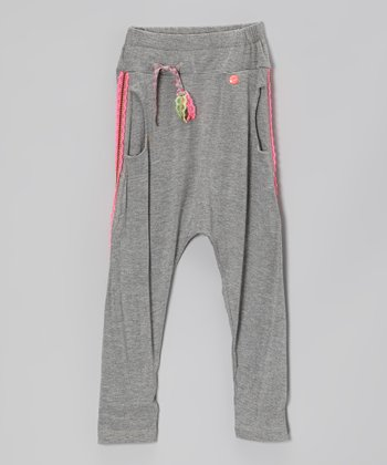 Gray & Pink Pants - Toddler & Girls
