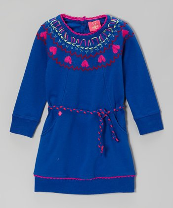 Blue Heart Dress - Toddler & Girls