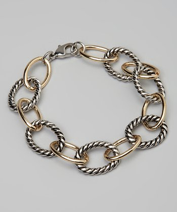 Silver & Gold Twisted Link Bracelet