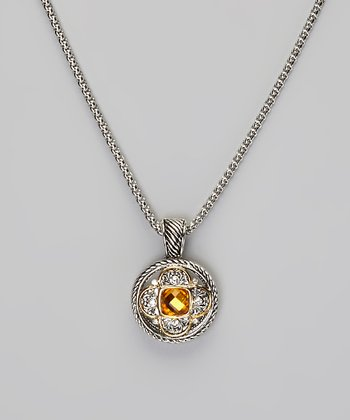 Silver & Topaz Pendant Necklace