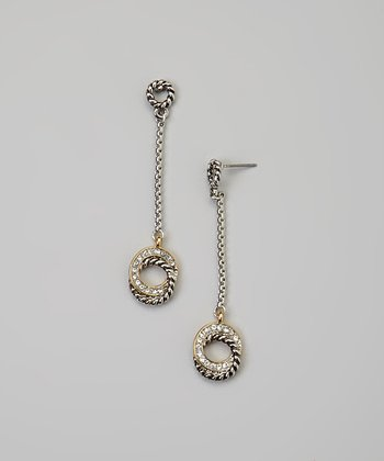 Crystal Intertwined Circle Drop Earrings
