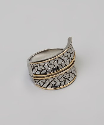 Gold Iridescent Pebbled Ring
