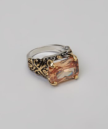 Gold & Topaz Stone Ring