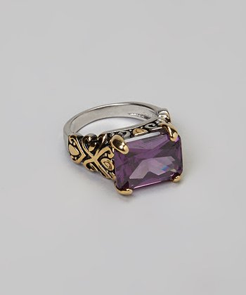 Gold & Purple Stone Ring