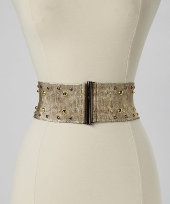 Gold Stone Stretch Belt