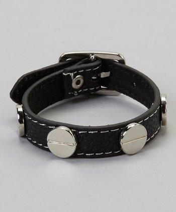 Black Stud Buckle Bracelet