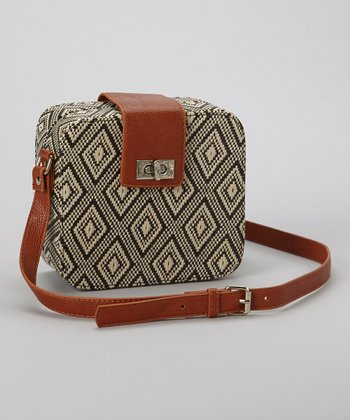 Black & Cream Diamond Box Crossbody Bag