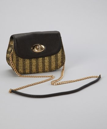 Black & Gold Metallic Crossbody Bag